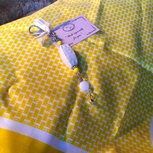 Vintage Scarf with Handmade Key Chain.